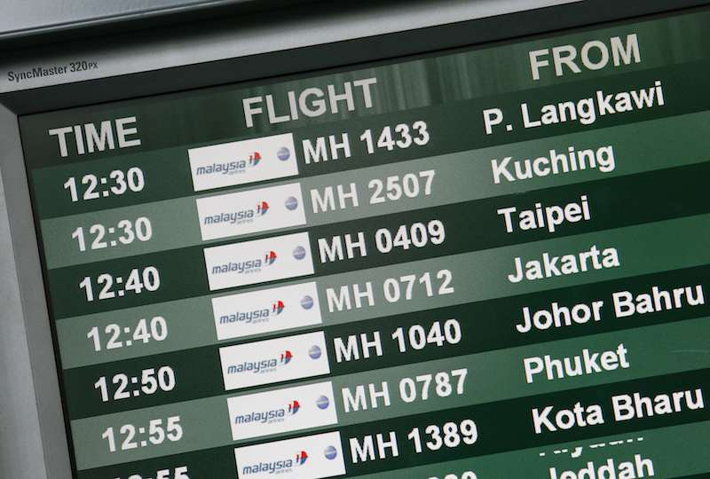 A board containing information on the arrival times of Malaysia Airlines flights is seen at Kuala Lumpur International Airport in Sepang outside Kuala Lumpur June 27, 2014. – Reuters pic, July 8, 2014.