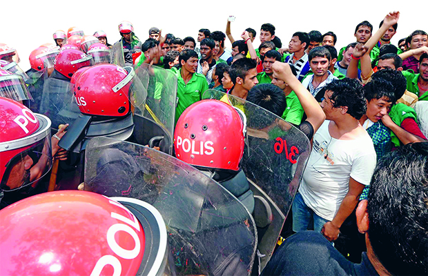 Police had to be called in to quell a riot by Nepalese workers at the JCY plant in Johor Bahru last week