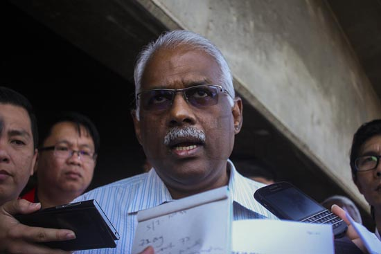 DAP's Klang MP Charles Santiago says though the Trans-Pacific Partnership Agreement (TPPA) mandates having the freedom to unionise and mount strikes, but it amounts to nothing as it still won't lead to better safety, job security and welfare for workers. – The Malaysian Insider pic, November 27, 2015.