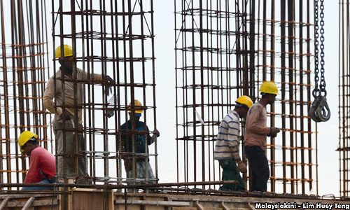 Contruction workers - Malaysiakini