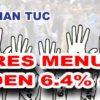 MTUC menuntut Kadar Dividen KWSP sebanyak 6.4% bagi tahun 2016.