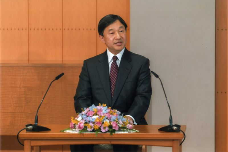 Japan's Crown Prince Naruhito attends a news conference ahead of his visit to Malaysia, at his Togu Palace in Tokyo, Japan April 11, 2017. Imperial Household Agency of Japan/Handout via Reuters ATTENTION EDITORS - THIS PICTURE WAS PROVIDED BY A THIRD PARTY. FOR EDITORIAL USE ONLY.