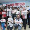 MTUC protes gaji minimum RM1,050.