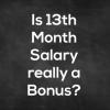 Is Bonus a 13th month salary?